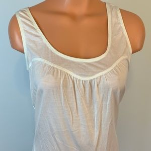 Tank Top by Puma White Sheer Tee Large New